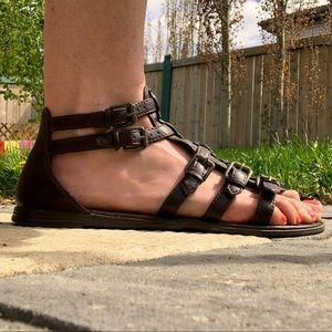 Montego Bay Faux Leather Gladiator Sandals